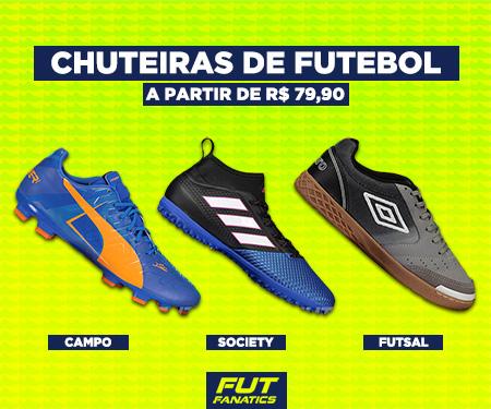 Chuteiras de futebol a partir de R$ 79,90 na Fut Fanatics