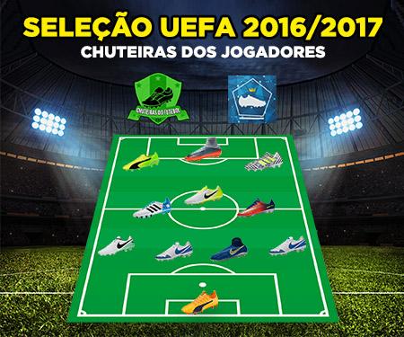 Chuteiras dos jogadores do time do ano da Uefa 2017-2018