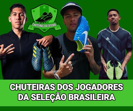 Chuteiras dos jogadores da Seleção Brasileira