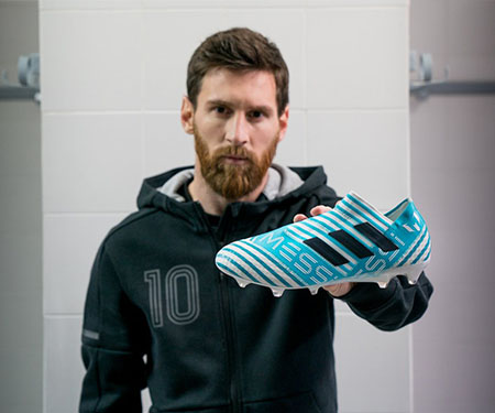 Adidas lança Nemeziz para Messi com as cores da Argentina