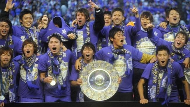 Sanfrecce Hiroshima celebra o título da J-League 2012