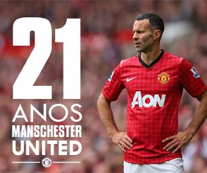 Ryan Giggs 21 anos de Manchester United capa