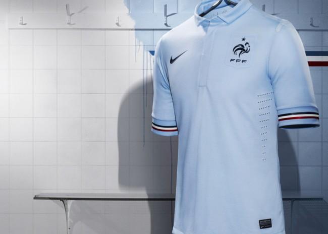 Camisa azul clara França 2013/2014 Nike