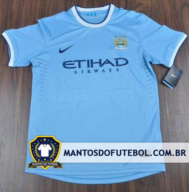 Manchester City, Camisa 2013/2014, Nike, Titular