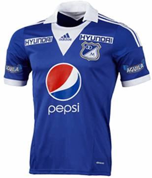 Camisa Millonarios da Colombia 2013 Adidas