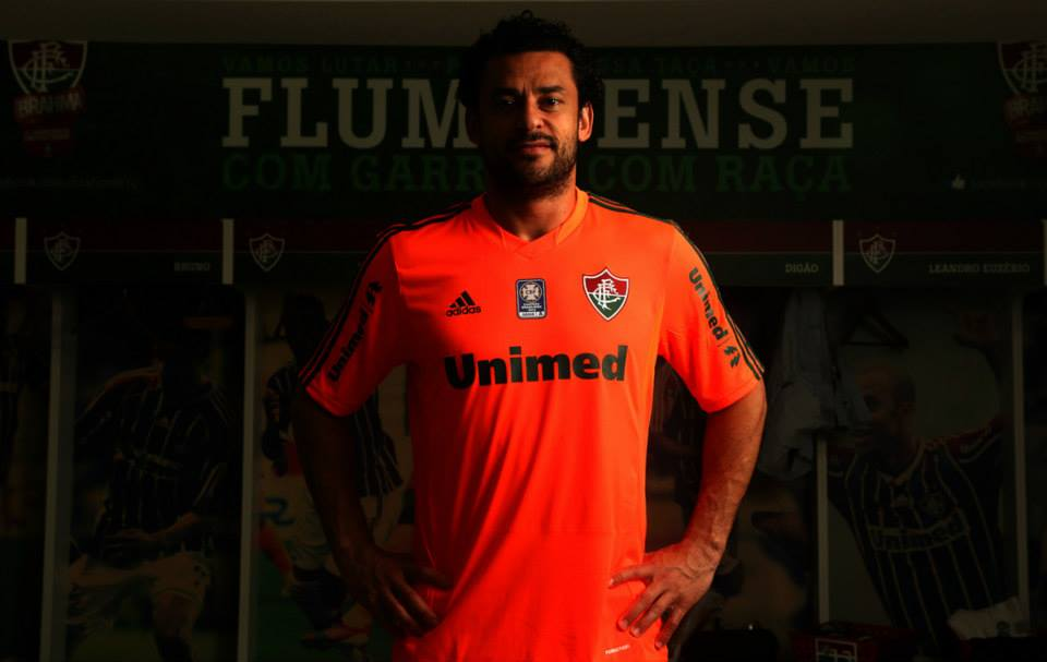 Camisa laranja do Fluminense 2013-2014