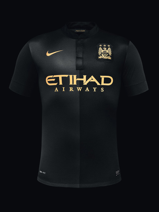 Camisa preta do Manchester City 2013-2014 reserva