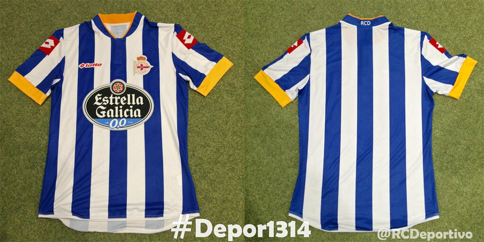 Camisa do Deportivo La Coruna para temporada de 2013/2014