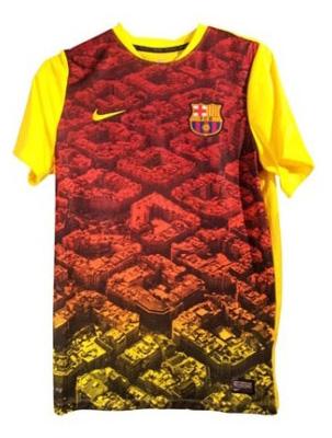 Camisa de treino do barcelona 2013/2014
