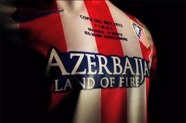Camisa do Atletico de Madrid para final da Copa do Rey 2013