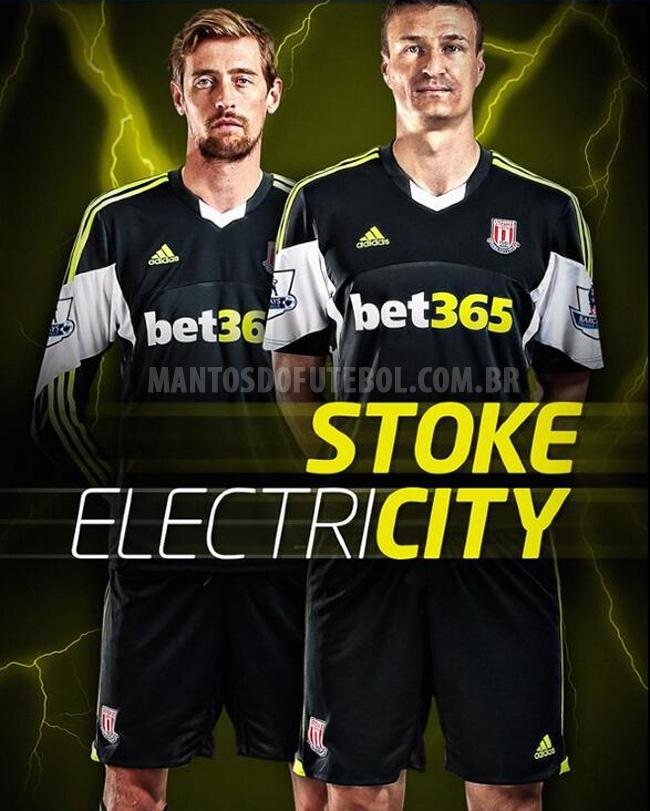 Camisa reserva do Stoke City 2013-2014