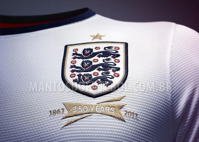 Camisa titular da Inglaterra 2013-2014