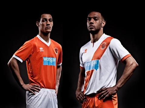 Camisas do Blackpool Errea 2013
