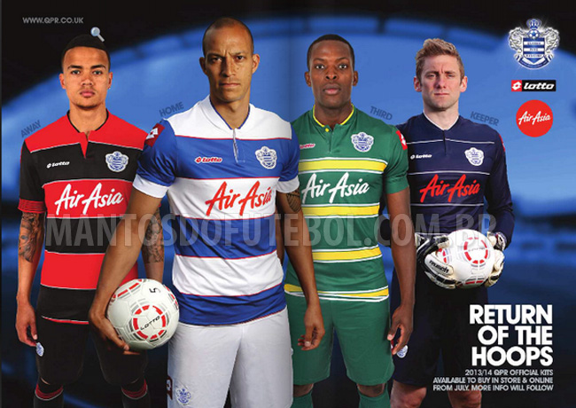 Camisas do QPR 2013-2014 Lotto