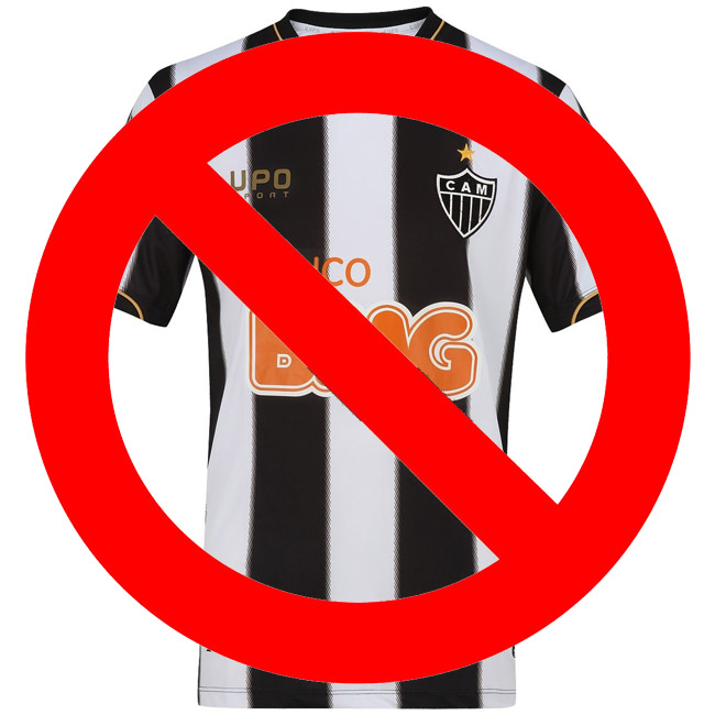 camisa do atletico-MG proibida