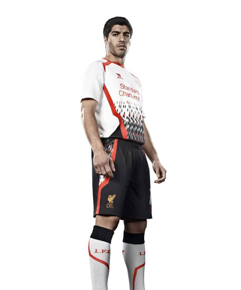 Camisa reserva do Liverpool 2013-2014 Warrior