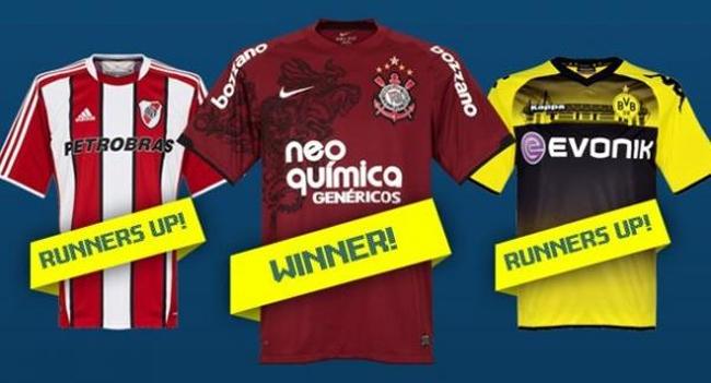 Camisa grená do Corinthians foi eleita a mais bonita de 2011 pelo site inglês Subside Sports