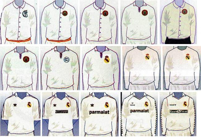 Primeiras camisas do Real Madrid