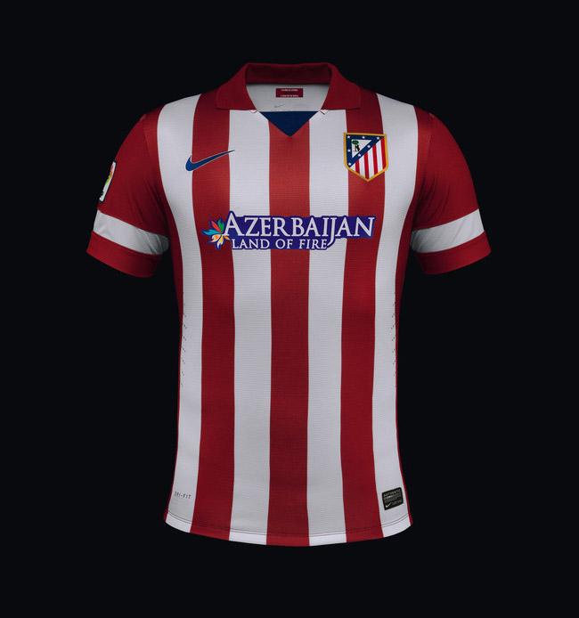 camisa titular do atletico de madrid 2013-2014