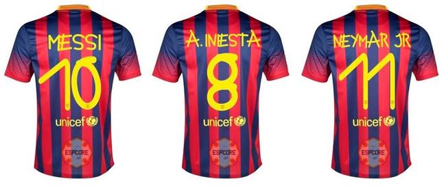 Menina com Down desenha números da camisa do Barcelona