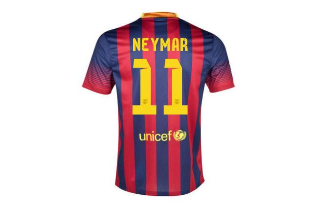 Número da camisa do Neymar no Barcelona