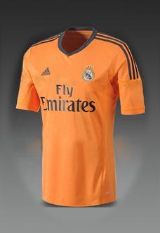 camisa laranja do Real Madrid 2013-2014