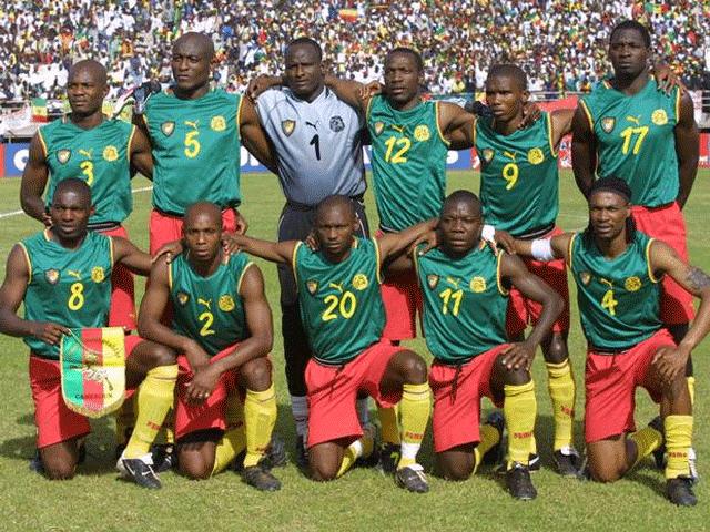 Camisa regata de Camarões 2002