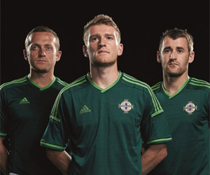 Camisa da Irlanda do Norte para 2014 Adidas