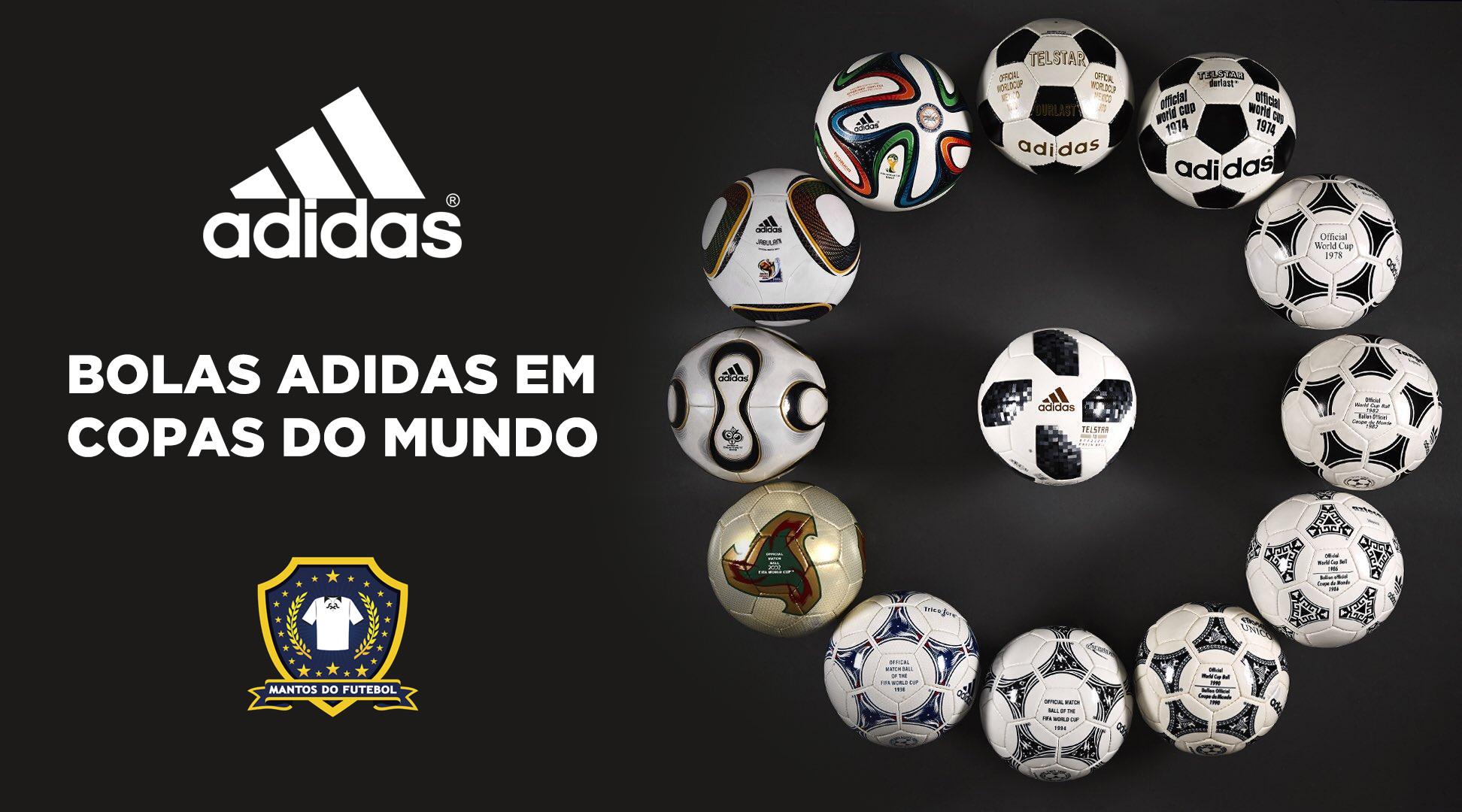 Evolução das bolas da Adidas em Copas do Mundo