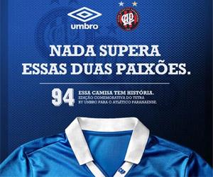 Terceira camisa do Atlético-PR Brasil 1994 Umbro capa