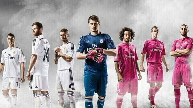Camisas do Real Madrid 2014-2015 Adidas jogadores