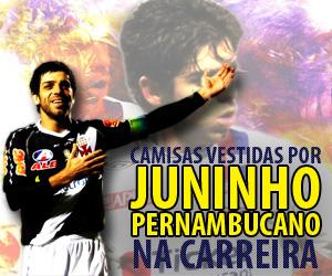 Camisas vestidas por Juninho Pernambucano na carreira capa