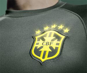 Terceira camisa do Brasil Verde Escura 2014 capa