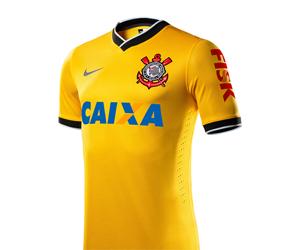 Camisa amarela do Corinthians 2014 Nike 3
