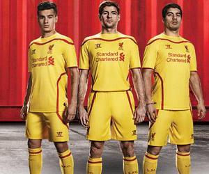 Camisas do Liverpool 2014-2015 Warrior Reserva capa