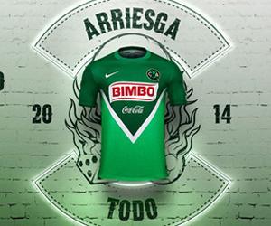 Camisa verde do América do México 2014 Nike capa