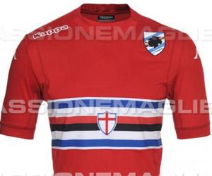 Camisas do Sampdoria 2014-2015 Kappa capa