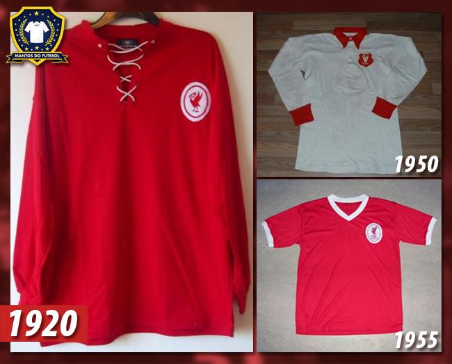 História da camisa do Liverpool FC