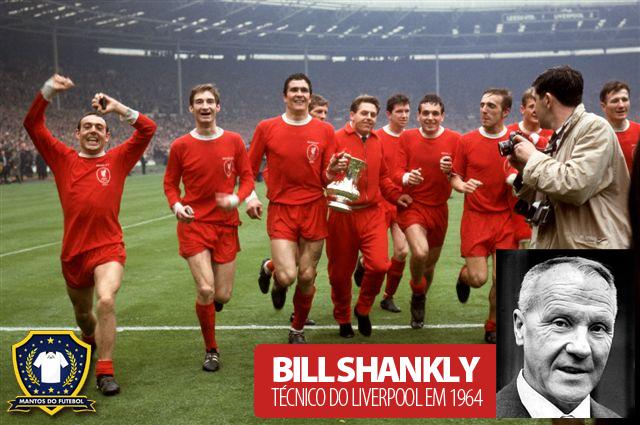uniforme vermelho do liverpool 1964