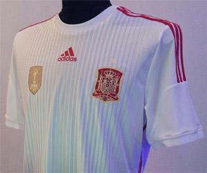 Camisa branca da Espanha para a Copa do Mundo 2014 capa