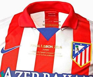 Camisa do Atlético de Madrid para a final da Champions League 2014 Lisboa capa
