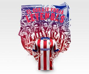 Camisas do Atlético de Madrid 2014-2015 Nike Titular capa