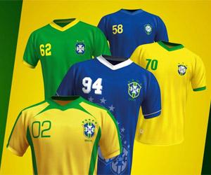 Guaraná relança promoção de camisas do Brasil de mundiais passados capa