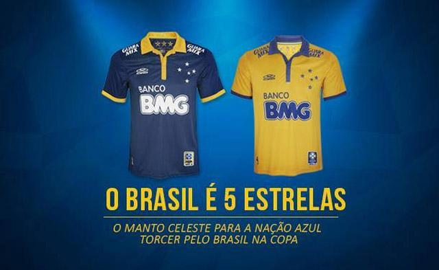 Terceira camisa amarela do Cruzeiro 2014 Olympikus