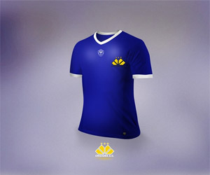 Terceira camisa azul do Criciúma 2014 capa