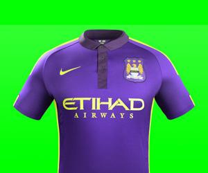 Terceira camisa do Manchester City 2014-2015 Nike capa