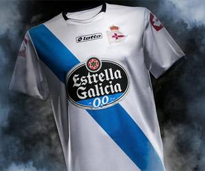 Camisa do Deportivo La Coruña 2014-2015 Lotto capa