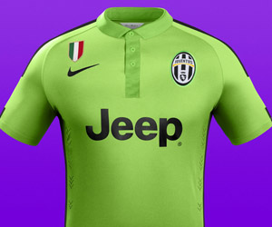 Terceira camisa verde da Juventus 2014-2015 Nike capa