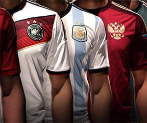 A saga para adquirir as camisas das 32 seleções da Copa do Mundo da FIFA 2014 capa