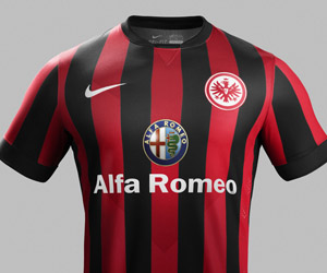 Camisas do Eintracht Frankfurt 2014-2015 Nike capa